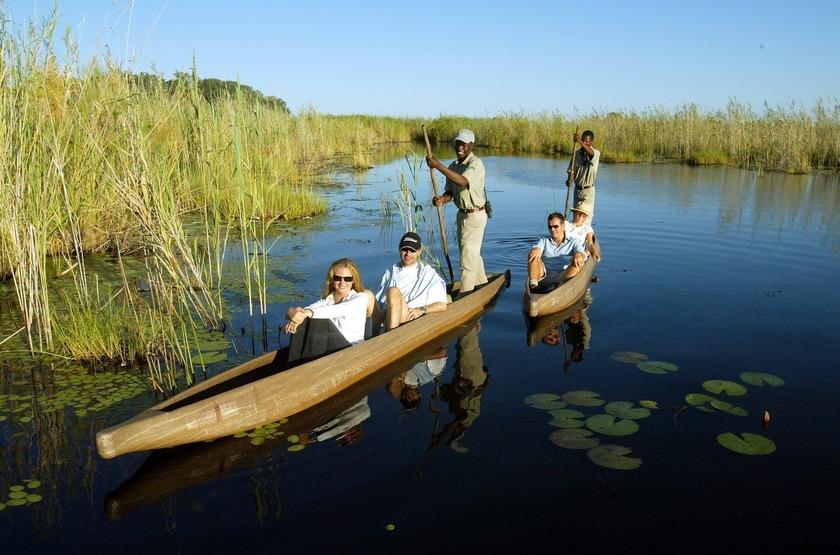 Little Vumbura, Okavango, Botswana, safari en mokoro