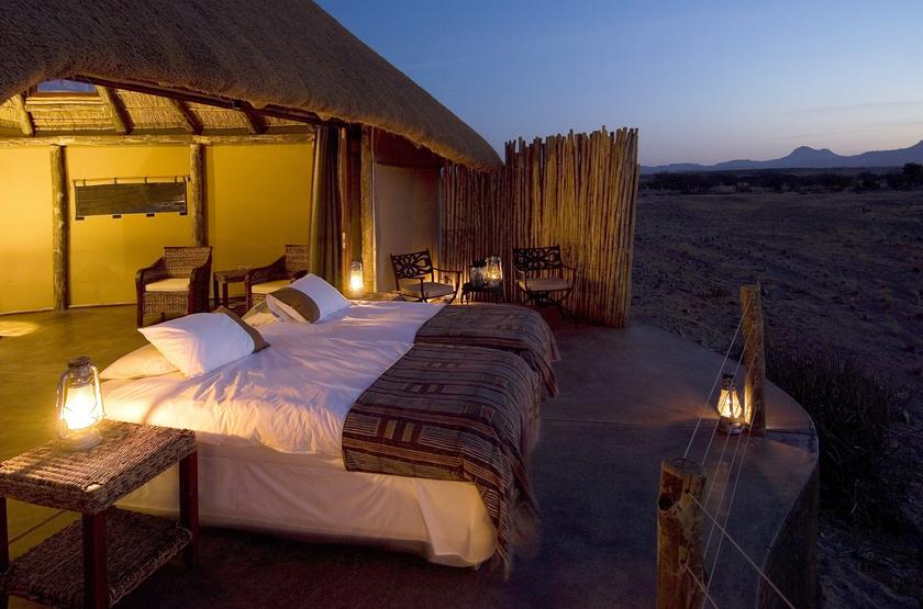 Namibia damaraland   doro nawas camp outside tent da slideshow