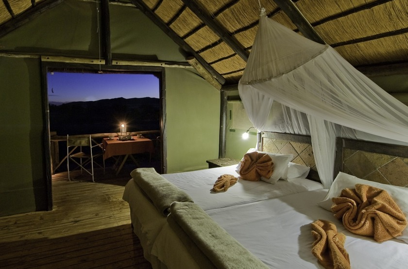 Namibie   kulala desert   interieur   chalet slideshow