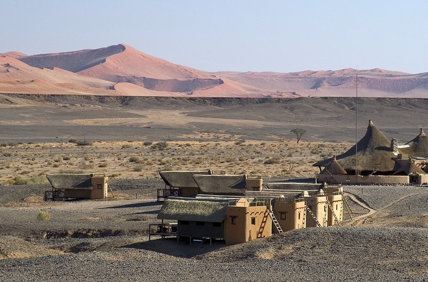 Kulala Desert Lodge, Sossuvlei, Namibie, vue d'ensemble