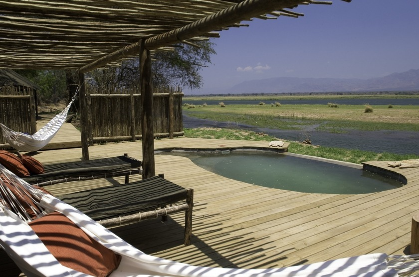 Ruckomechi Camp, Mana Pools, Zimbabwe, piscine