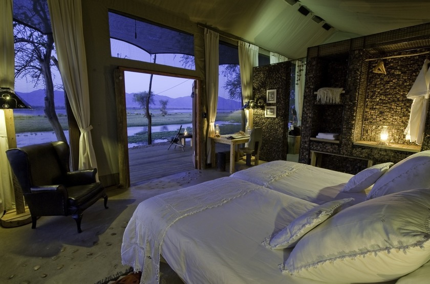 Ruckomechi Camp, Mana Pools, Zimbabwe, chambre