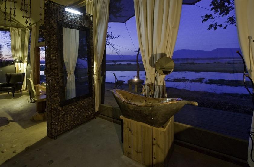 Ruckomechi Camp, Mana Pools, Zimbabwe, salle de bains