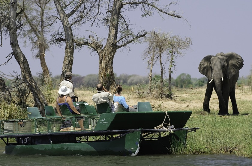 Ruckomechi Camp, Mana Pools, Zimbabwe, safari en bateau