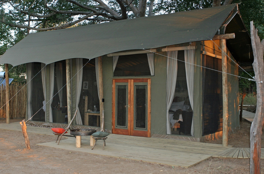 Ruckomechi Camp, Mana Pools, Zimbabwe, tente