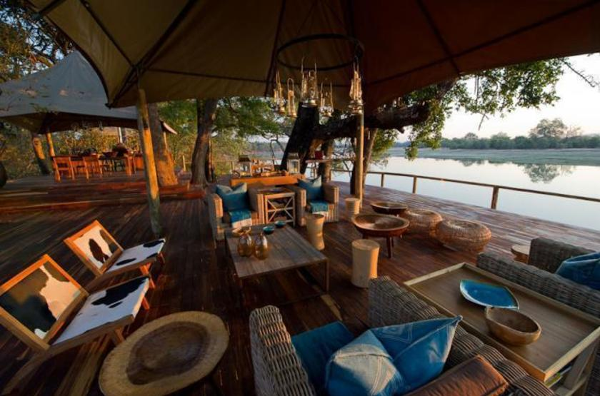 Chindeni Camp, South Luangwa, Zambie, lounge