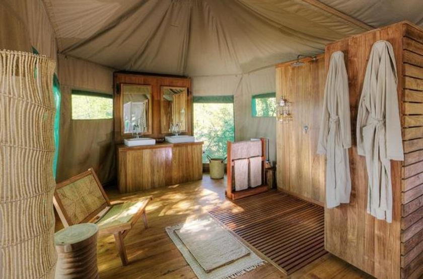 Chindeni Camp, South Luangwa, Zambie, salle de bains