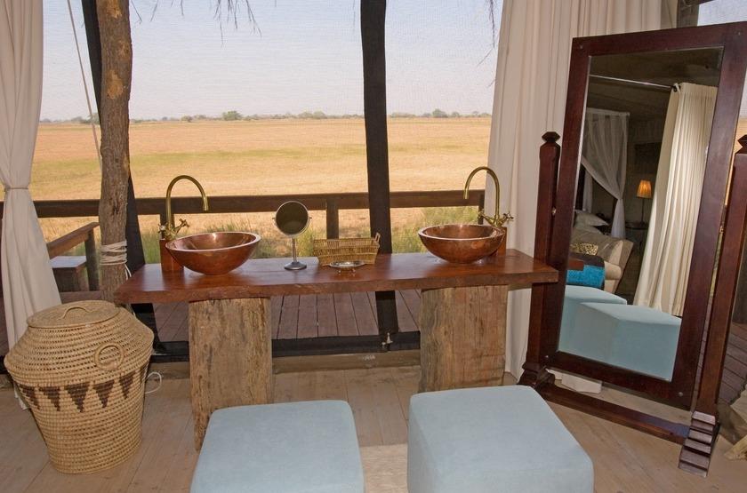 Shumba Camp, Parc de Kafue, Zambie, salle de bains