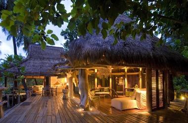 Seychelles   north island   villa   sunset listing