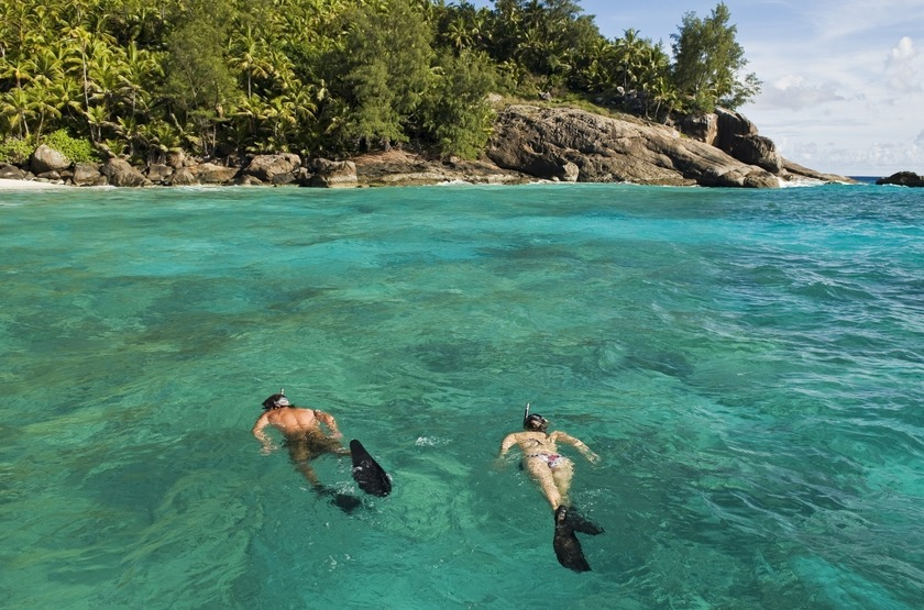 Seychelles   north island   snorkling slideshow