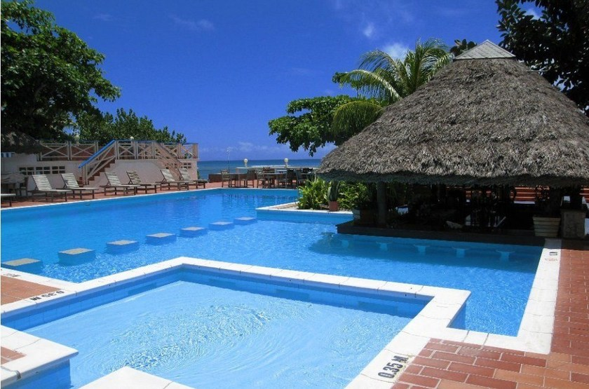 La Digue Island Lodge, Seychelles, piscine
