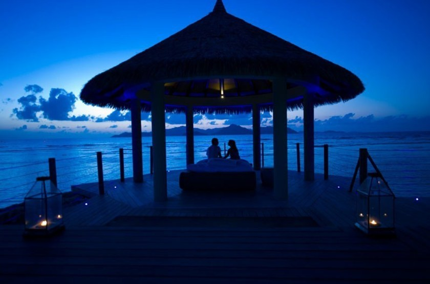 Le Domaine de l'Orangeraie, La Digue, Seychelles, dîner romantique