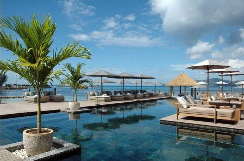 Le Domaine de l'Orangeraie, La Digue, Seychelles, piscine