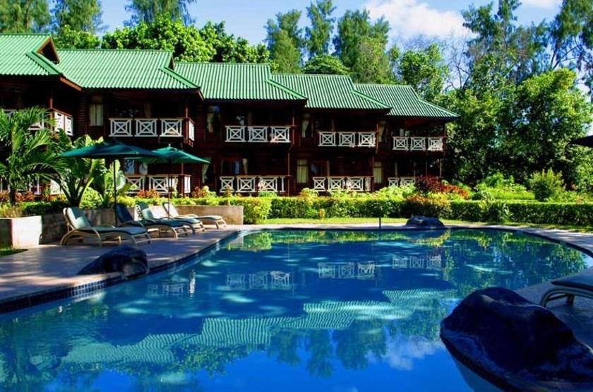 Acajou Beach Resort, Praslin, Seychelles, piscine