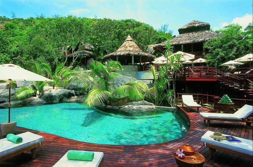 Constance Lemuria Resort, Praslin, Seychelles, piscine