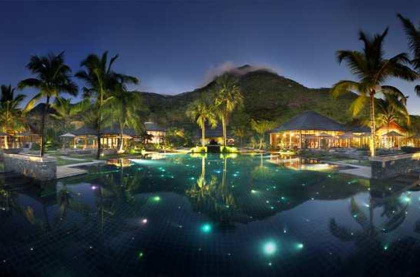 Labriz Island Lodge, Silhouette, Seychelles, piscine à débordement