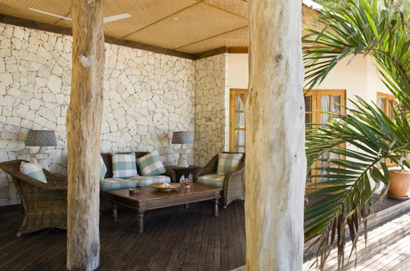 Denis Island Lodge, Seychelles, terrasse bungalow