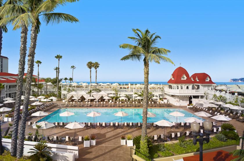 Etats unis   san diego   hotel del coronado   piscine slideshow