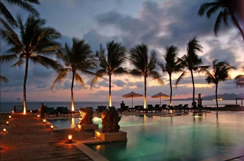 Rama Candidasa, Bali, Indonésie, piscine