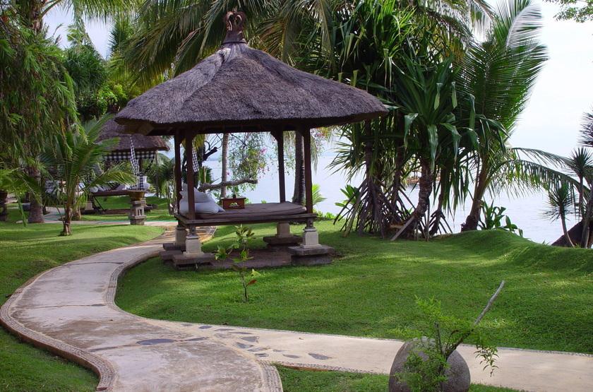 Puri Bagus Lovina, Bali, Indonésie, gazebo