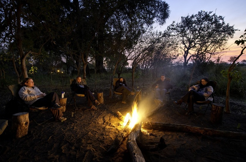 The Adventurer Camps, Botswana, camp fire