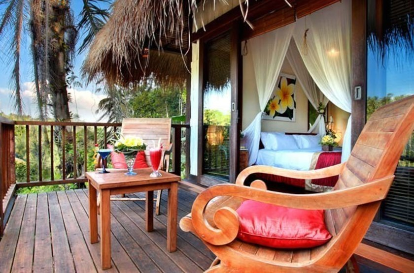 Nandini Bali Jungle Resort & Spa, Ubud, Bali, Indonésie, terrasse