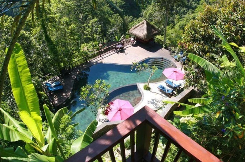 Nandini Bali Jungle Resort & Spa, Ubud, Bali, Indonésie, vue piscine & Spa