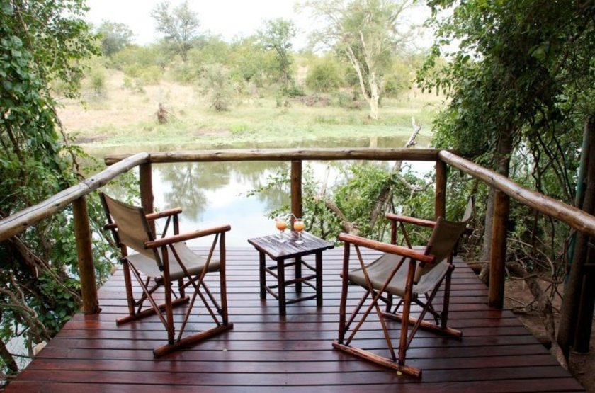 Machampane tented camp   vue terrasse slideshow