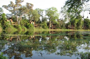 Machampane tented camp   vue tentes listing
