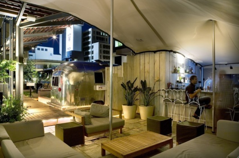 Airsteam Grand Daddy, Cape Town, Afrique du Sud, terrasse