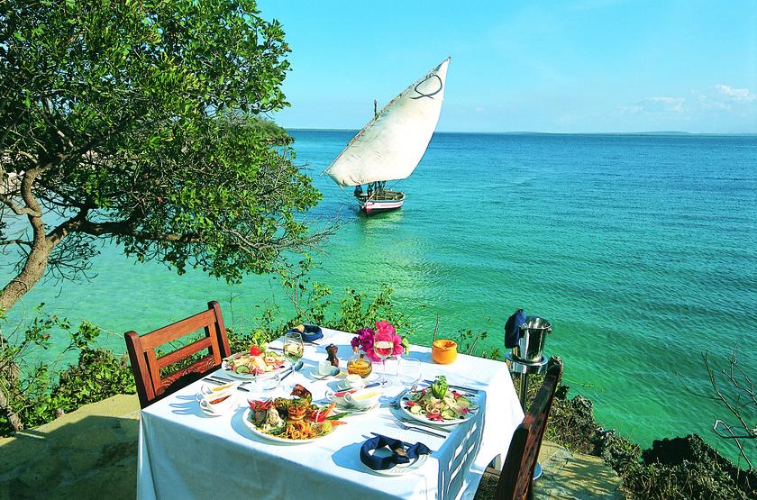 Azura, Quilalea île privée aux Quirimbas, restaurant