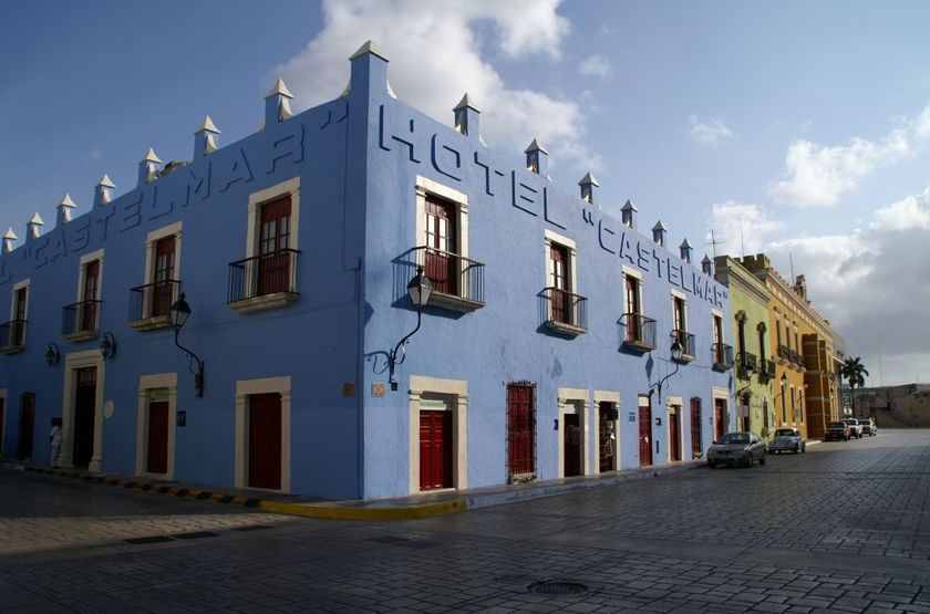 Hotel Castelmar, Campeche, Mexique, extérieur