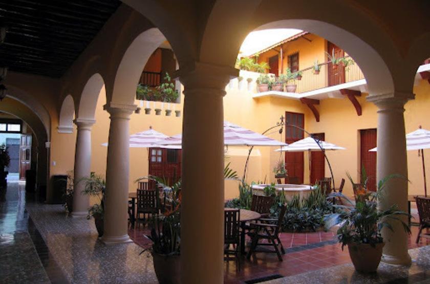 Hotel Castelmar, Campeche, Mexique, patio
