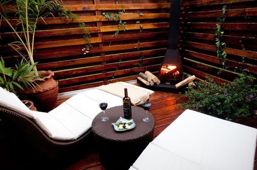 Arusha Coffee Lodge, Tanzanie, terrasse