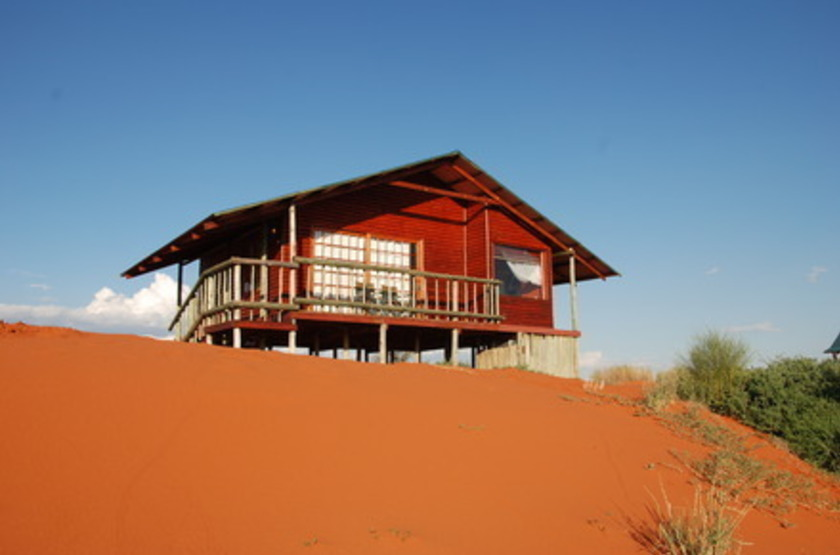 Bagatelle Kalahari Game Ranch, Mariental, Namibie, chalet