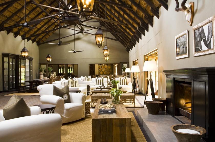 Mushara Lodge, parc d'Etosha, Namibie, salon
