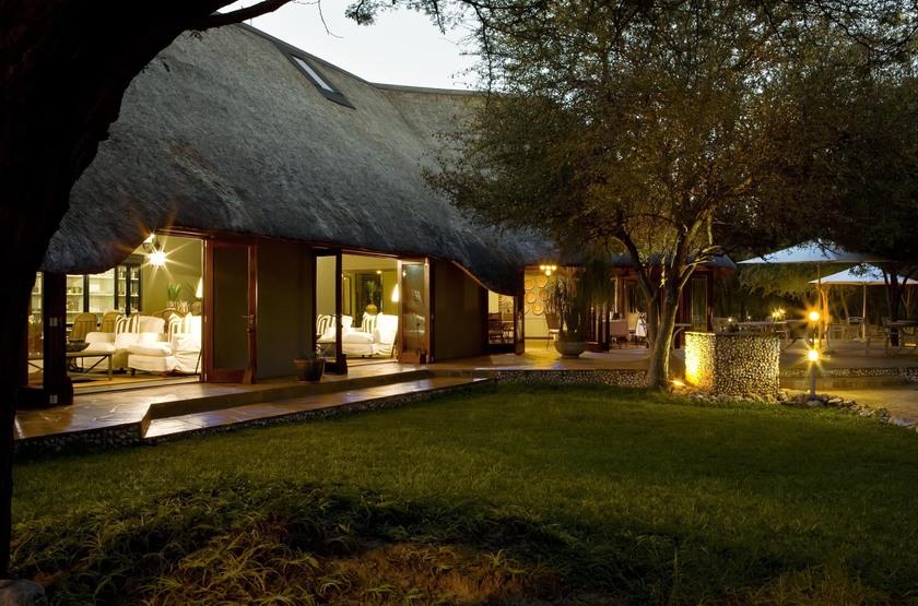 Mushara Lodge, parc d'Etosha, Namibie, extérieur