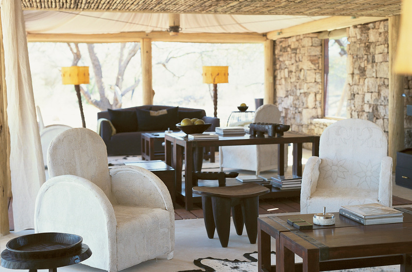 Onguma Tented Camp, Namibie, salon