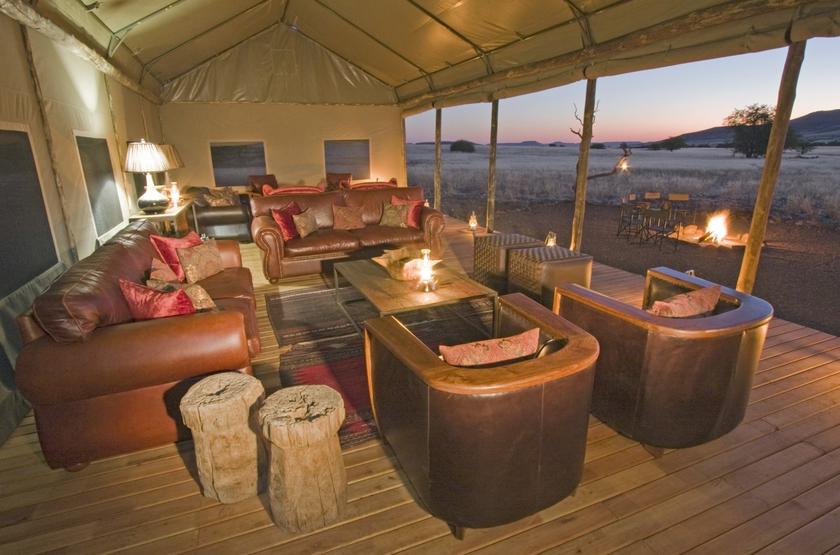 Desert Rhino Camp, Palmwag, Damaraland, Namibie, salon