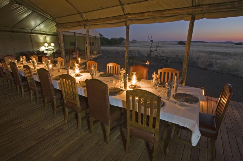Desert Rhino Camp, Palmwag, Damaraland, Namibie, restaurant