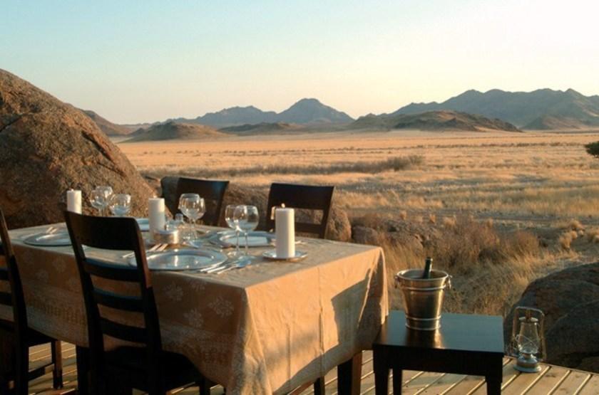 Wolwedans Boulders Camp, Namibie, terrasse