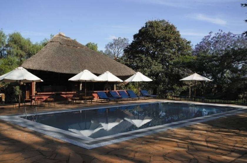Ngorongoro farmhouse   karatu   piscine slideshow