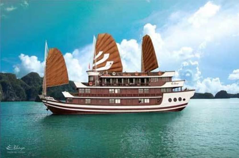 Jonque Bhaya, Baie d'Halong, Vietnam, jonque