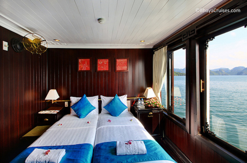 Jonque Bhaya, Baie d'Halong, Vietnam, cabine