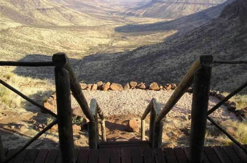 Grootberg Lodge, Namibie, vue sur l'Huab River
