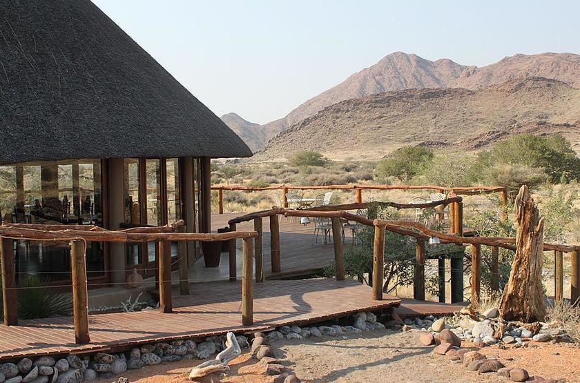Hoodia Desert Camp, Sossusvlei, Namibie, terrasse