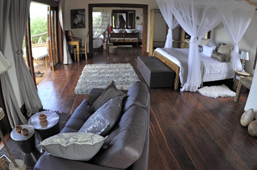 Escarpment Luxury Lodge, Lac Manyara, Tanzanie, intérieur tente