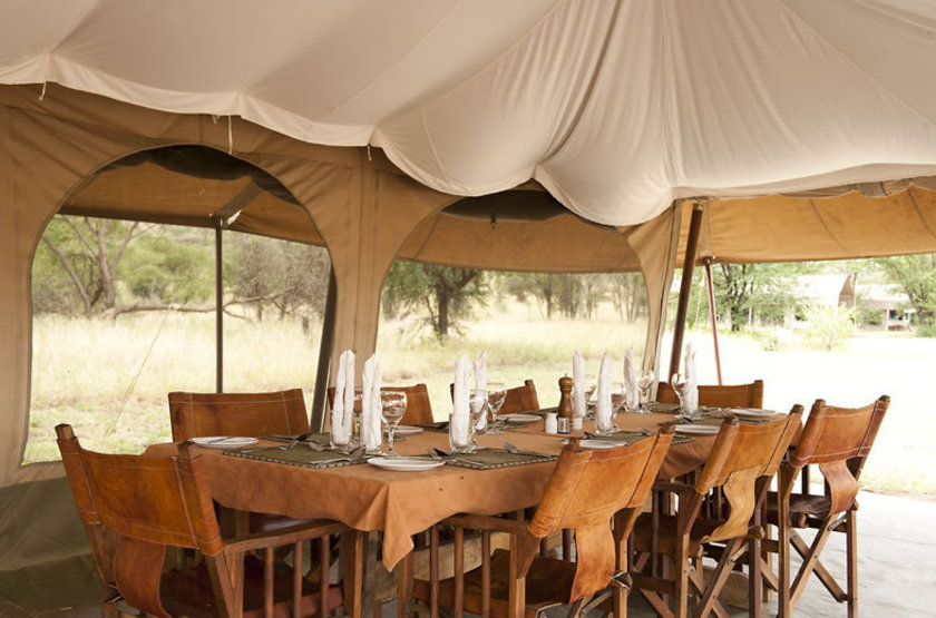 Kati Kati Camp, Serengeti, Tanzanie, restaurant