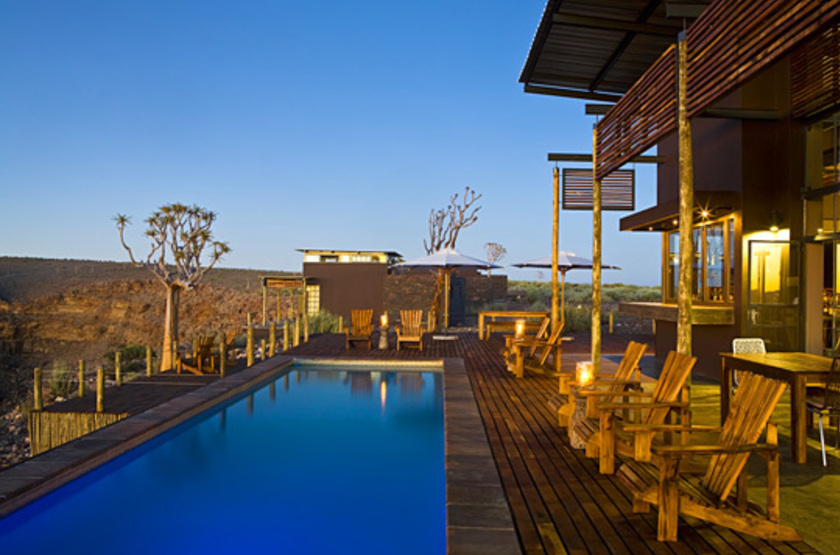 Fish River Lodge, Fish River Canyon, Namibie, piscine