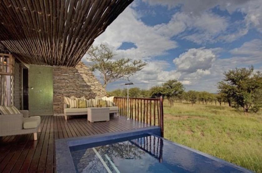 Four Seasons Safari Lodge, Serengeti, Tanzanie, terrasse suite